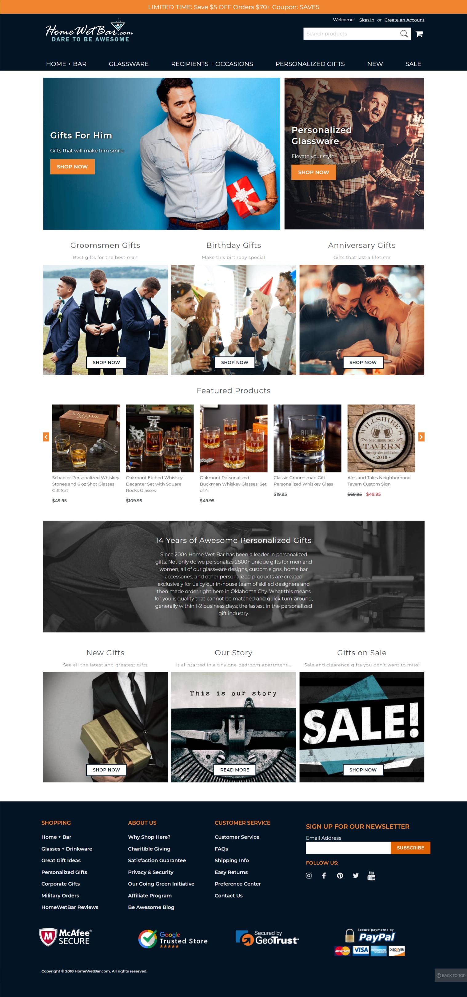 Home Wet Bar - Magento 2 Commerce Cloud   Commerce Hero